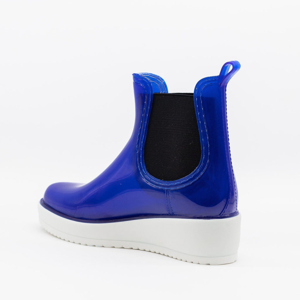 Womens Trendy Rainboot Sneakers - Qupid Shoes