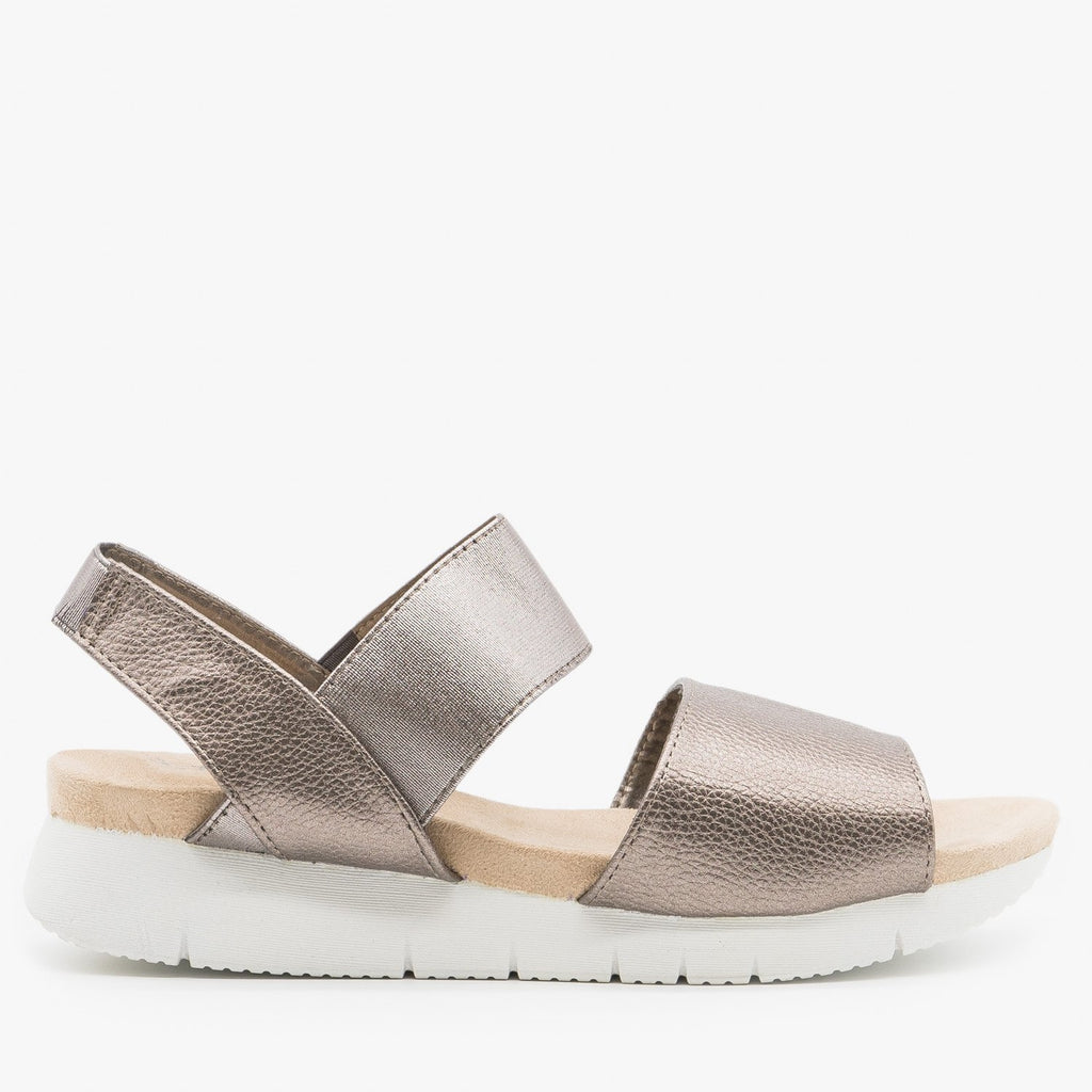 Women's Trendy Slingback Comfort Sandals - Refresh - Pewter / 5