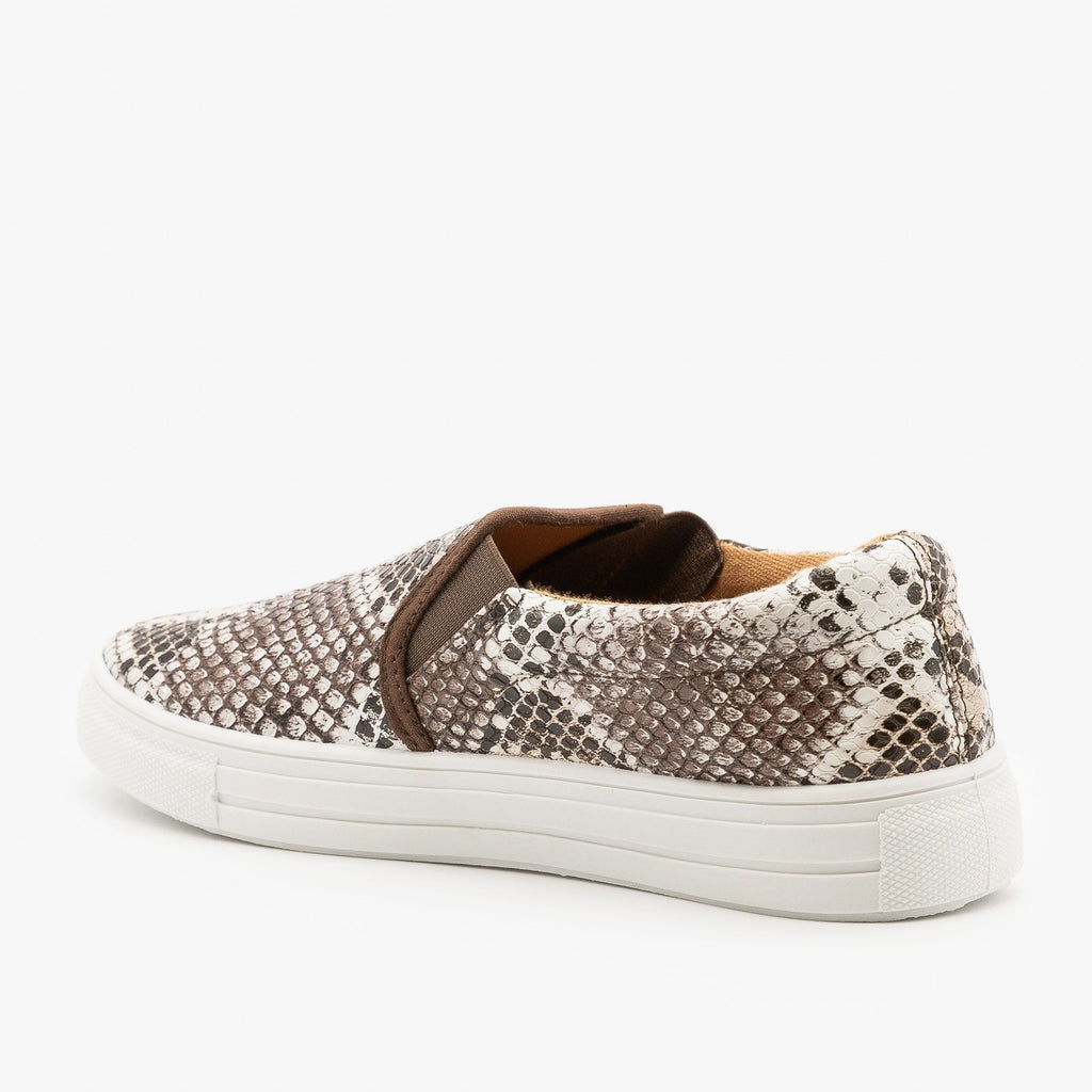 Womens Trendy Slip-On Sneakers - Qupid Shoes
