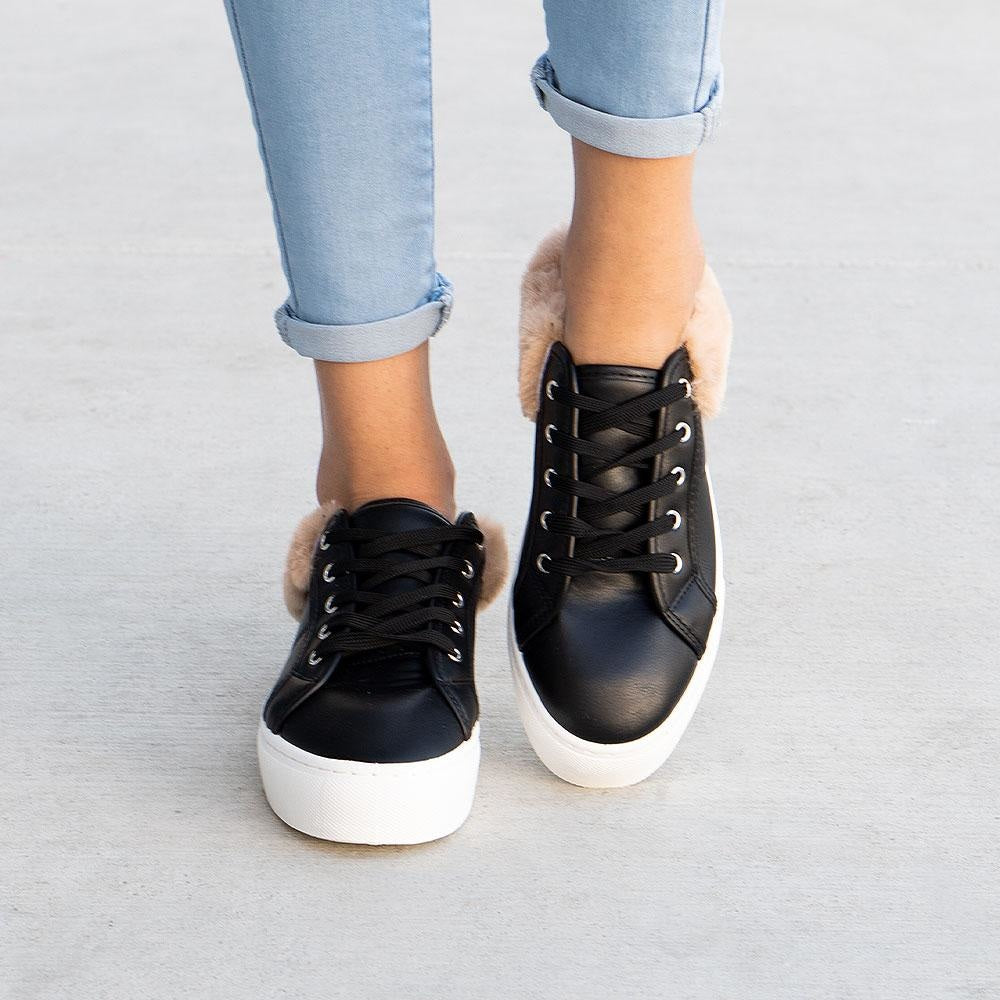 Women's Trendy Trimmed Sneaker - Qupid Shoes