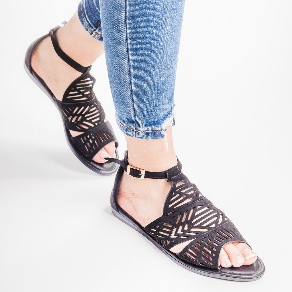 Womens Tribal Laser Cut Sandal - Bamboo Shoes