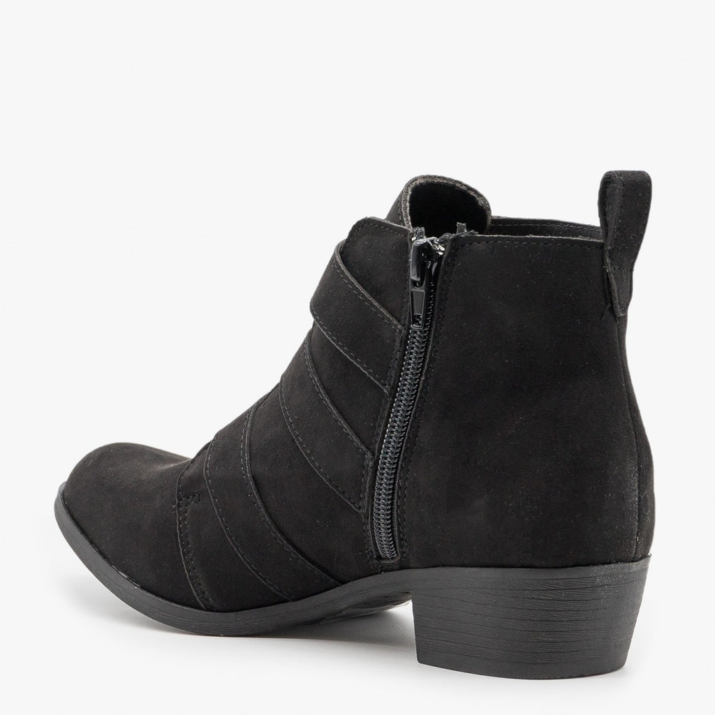 Womens Triple-Buckle Booties - Shoelala