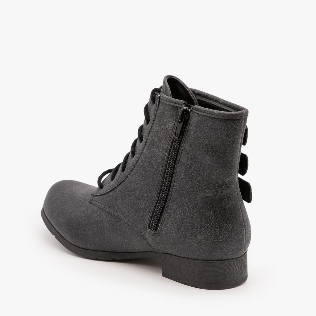 Womens Triple Buckle Booties - Soda Shoes