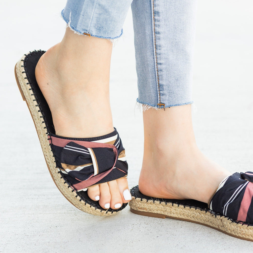 Womens Tropical Espadrille Slides - Nature Breeze
