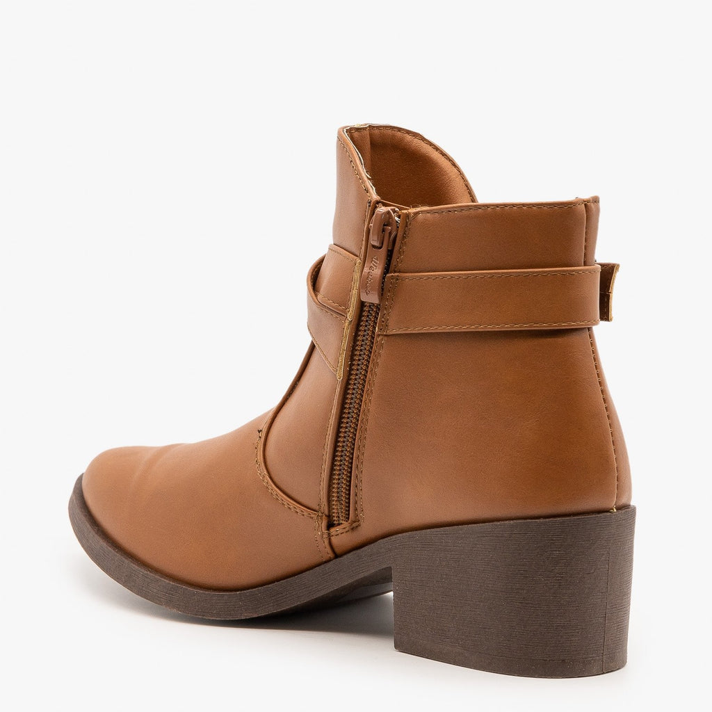 Womens Tulip Side Buckled Booties - Weeboo