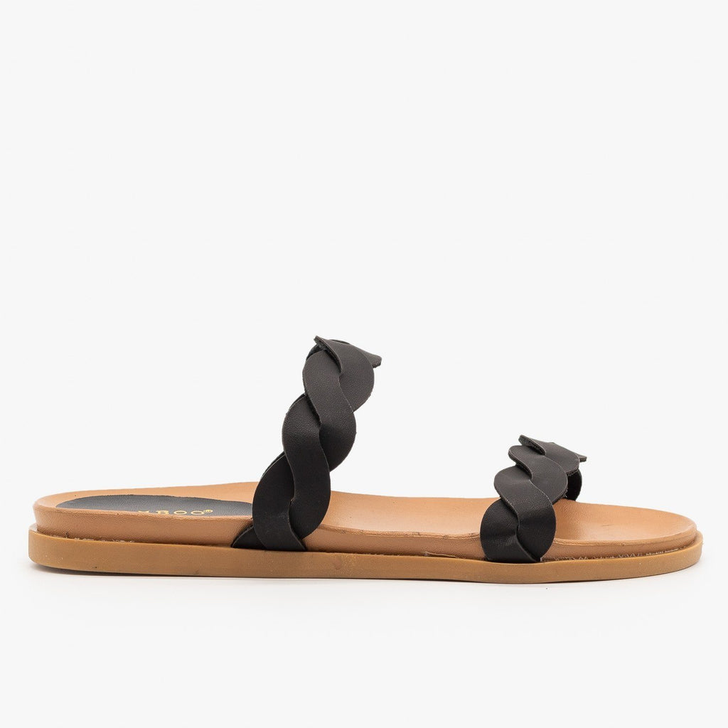 Womens Twisted Comfy Slides - Bamboo Shoes