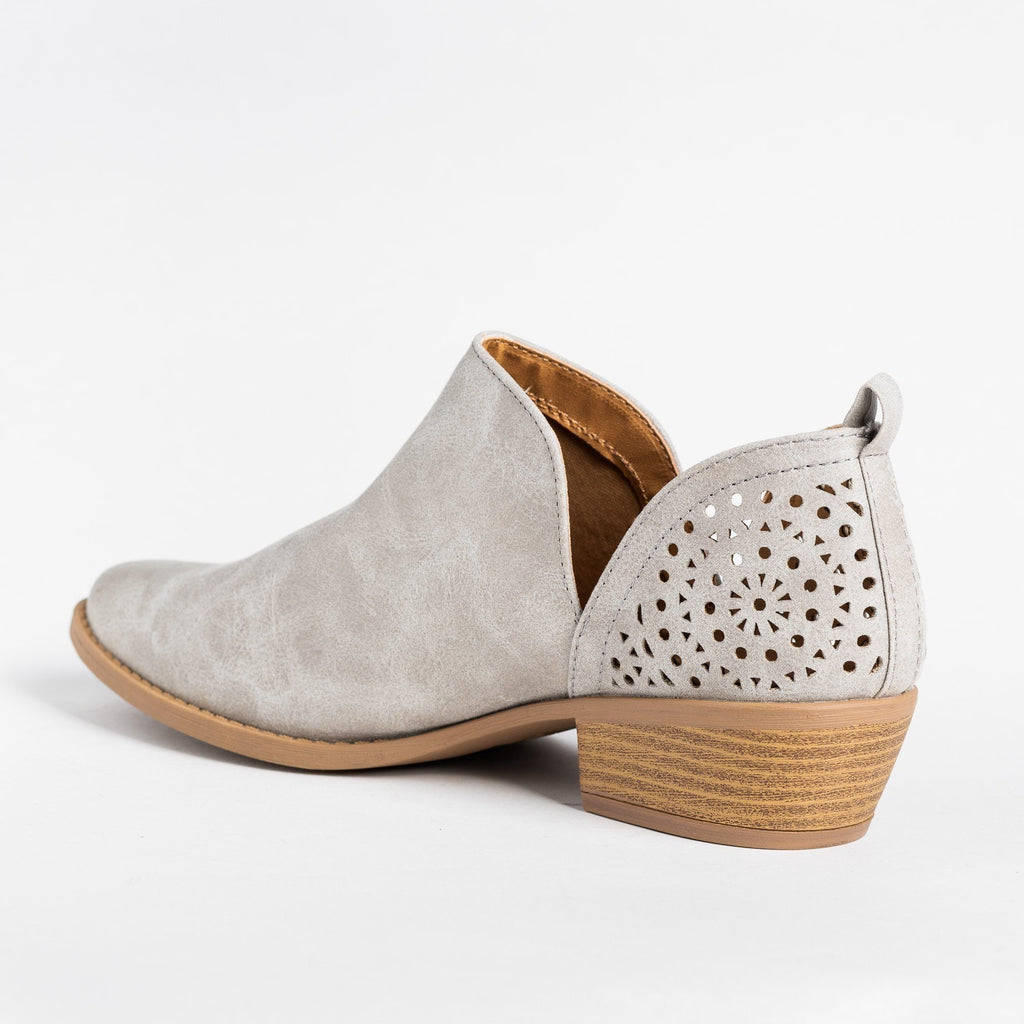 Womens V-Cut Fashion Booties - Qupid Shoes