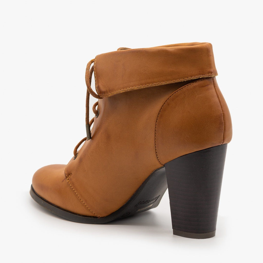 Womens Vintage Inspired Ankle Booties - Bamboo Shoes
