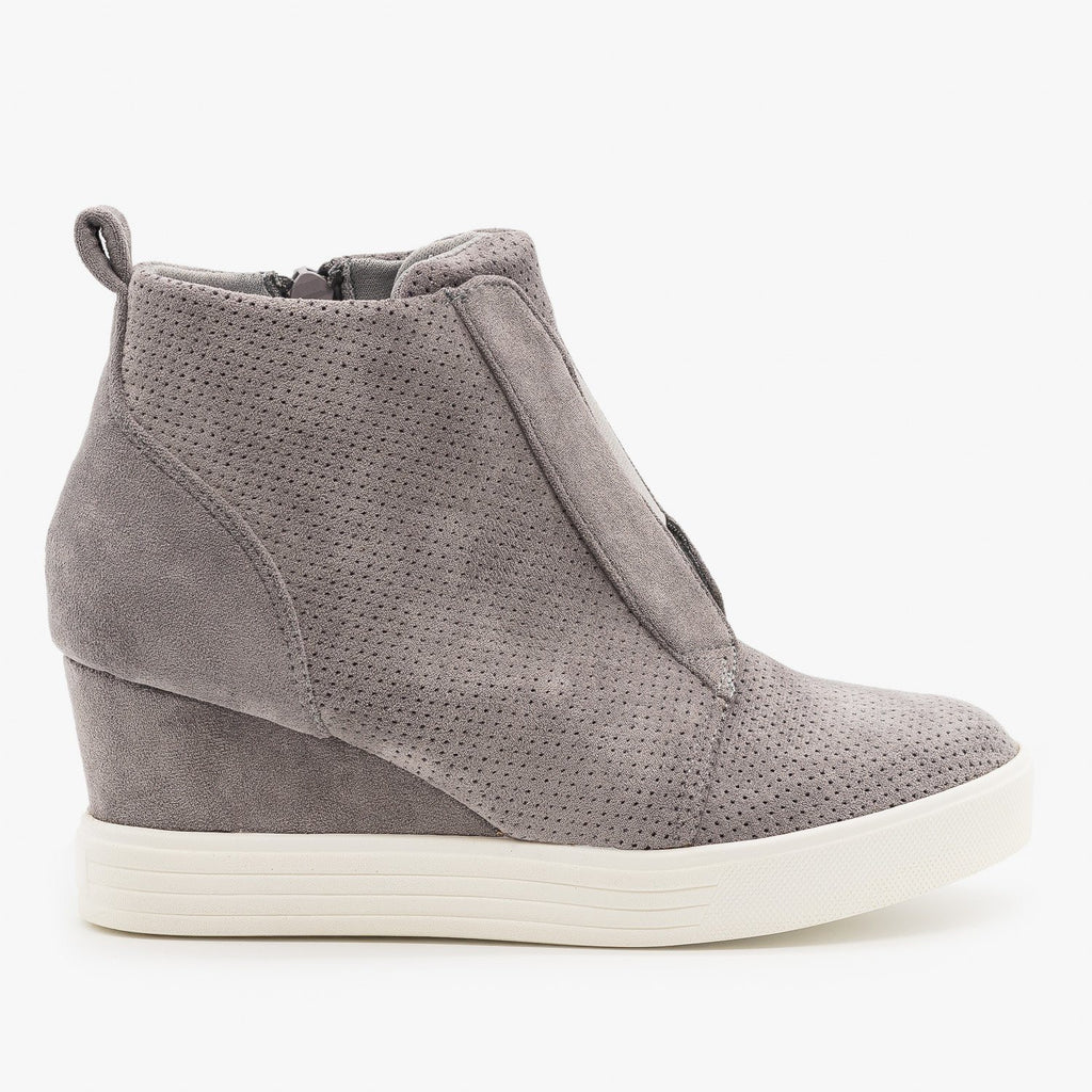 Womens Wedge Heel Sneakers - Top Moda
