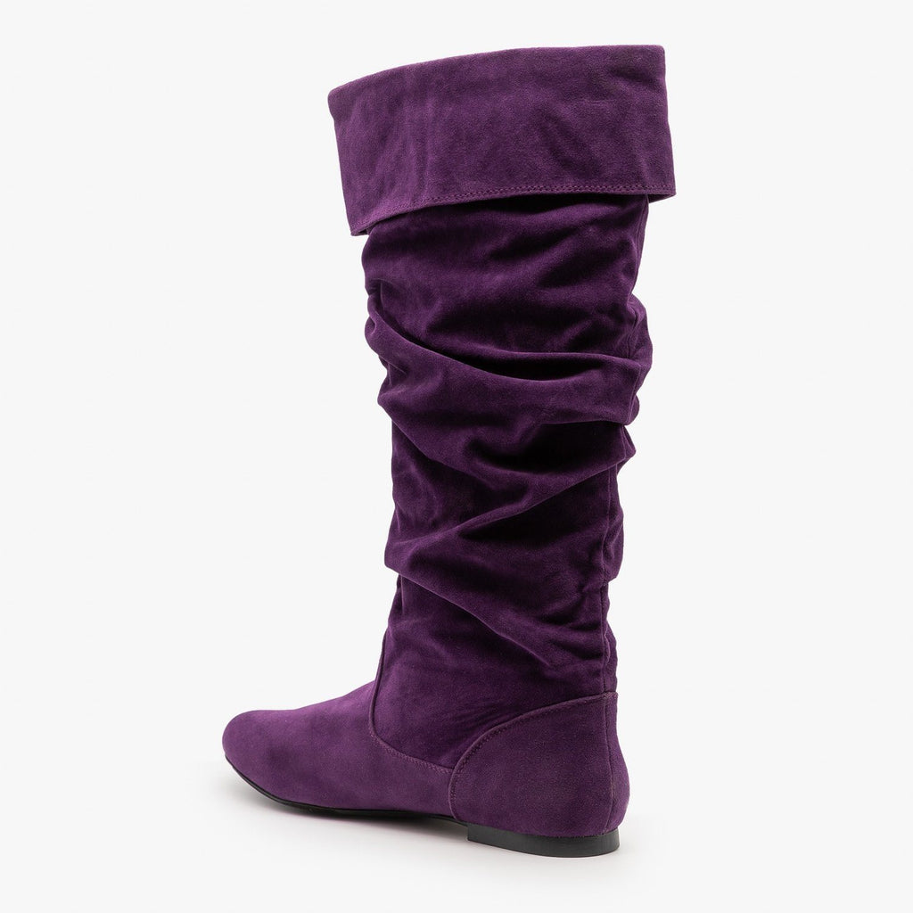 Womens Whimsical Slouchy Boots - Qupid Shoes