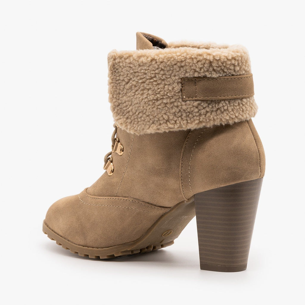 Womens Wintry High Heeled Booties - Lucita Shoes