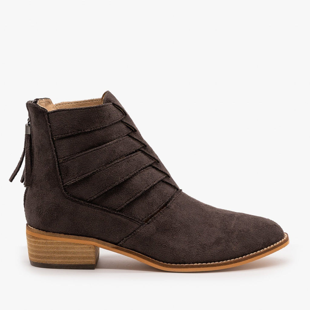 Woven Ankle Booties - ARider Girl Shoes