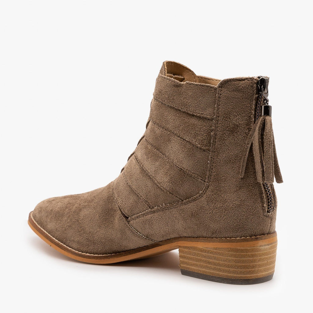 Womens Woven Ankle Booties - Arider Girl