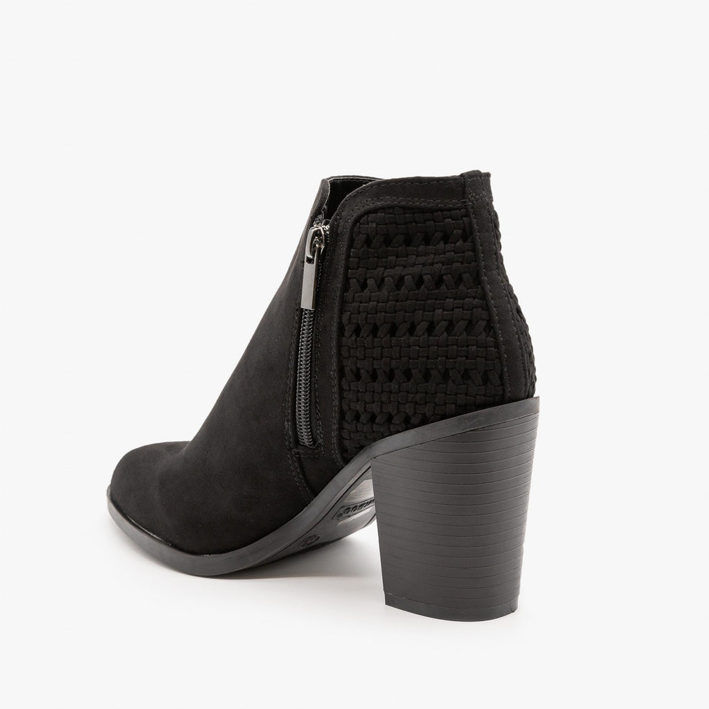 Womens Woven Ankle Booties - Bamboo Shoes