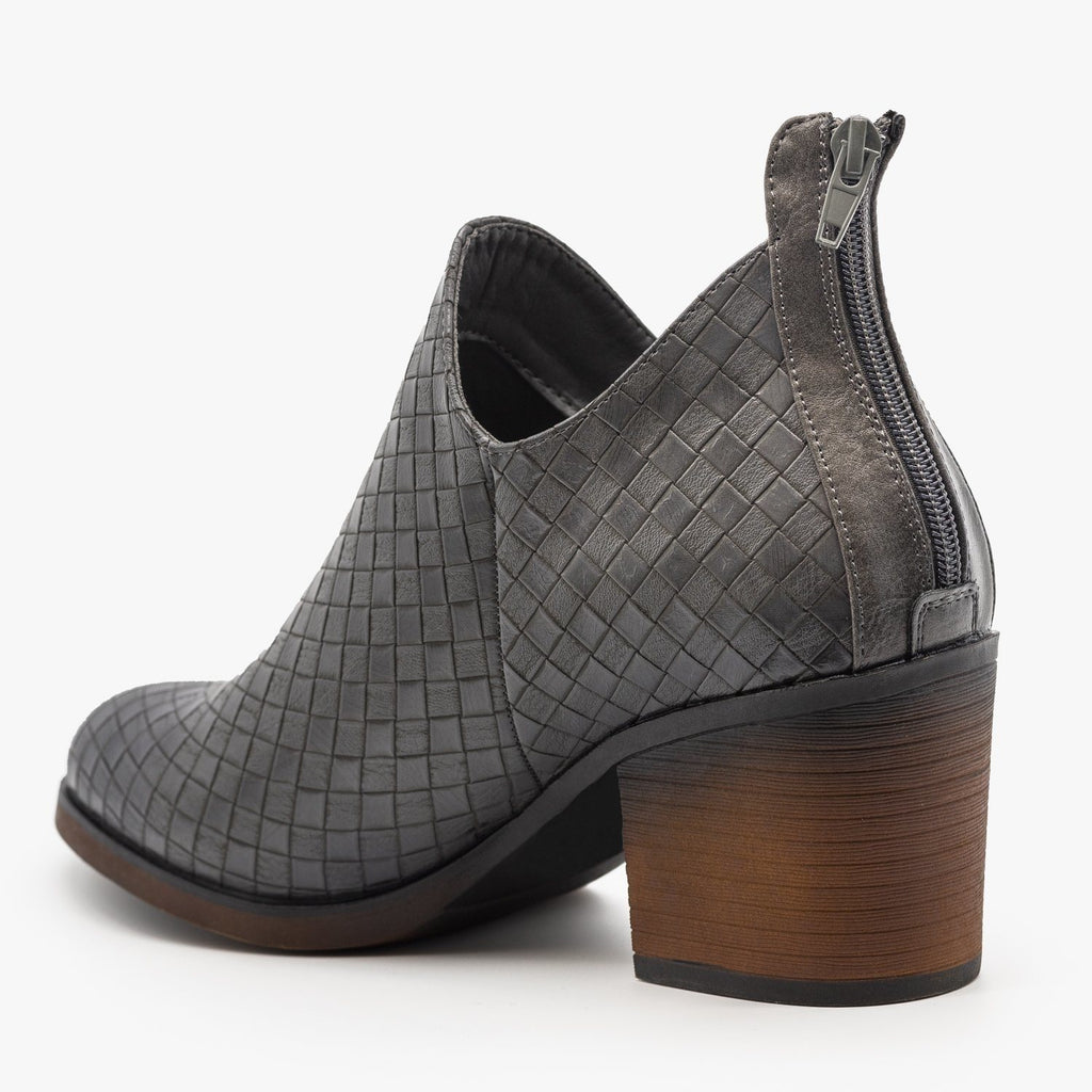 Womens Woven Ankle Booties - Mata