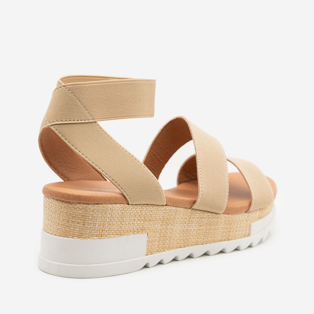 Women's Woven Platform Sandals - Top Moda