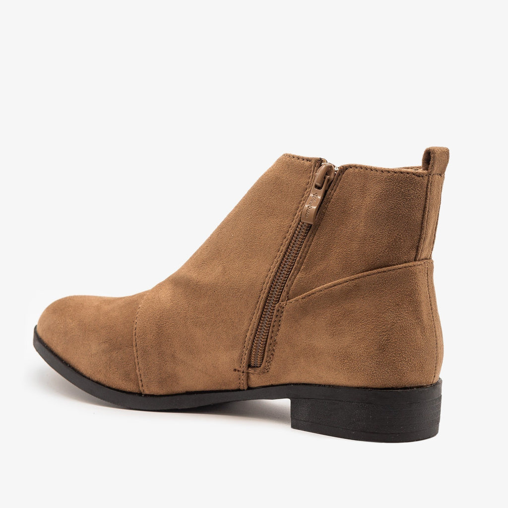 Womens Wrap Over Ankle Booties - Weeboo