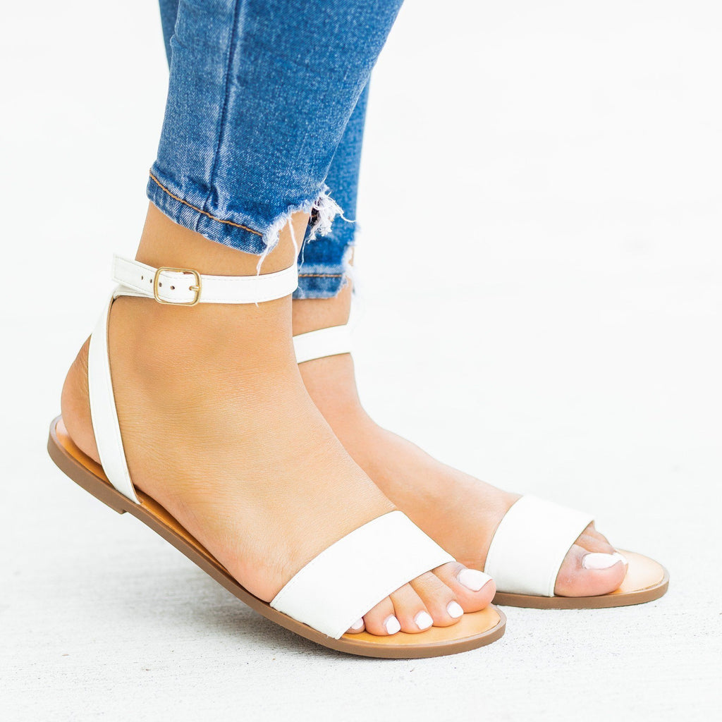 Womens Wraparound Ankle Strap Sandals - Soda Shoes