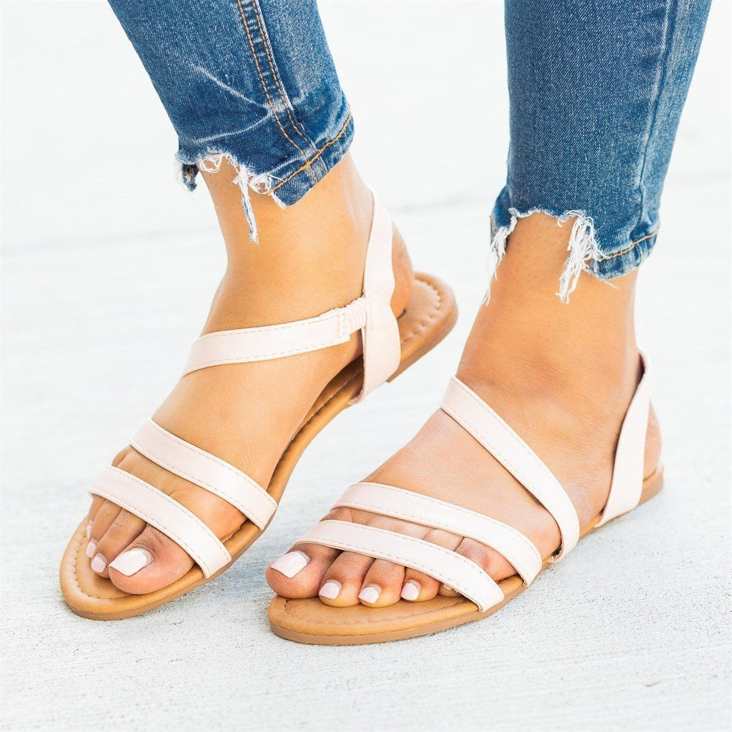 Womens Wraparound Strap Slingback Sandals - Soho Girls