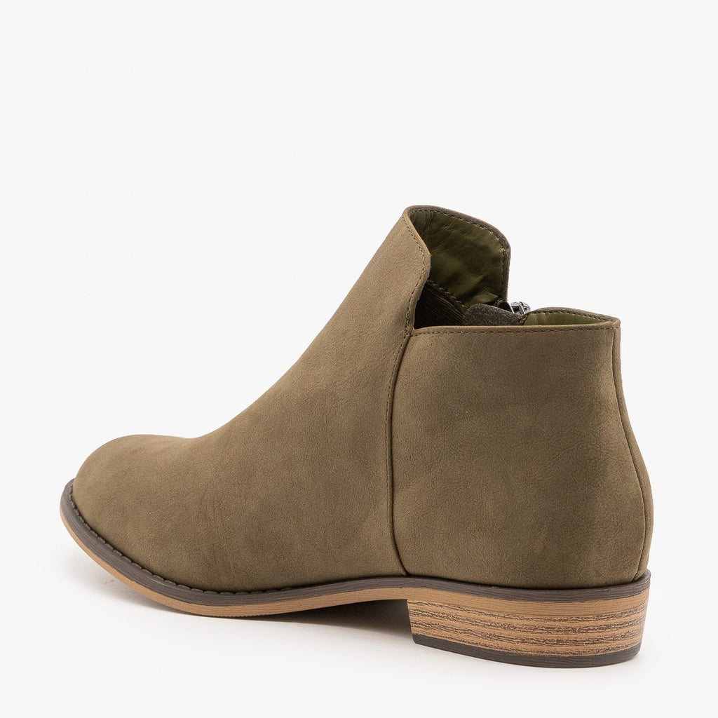 Zip-up Ankle Booties - City Classified