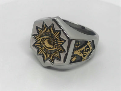 Silver Devil Eye Ring