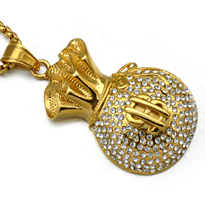 Gold Bag of Necklace