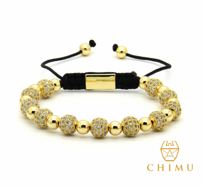 Gold Bracelet with CZ Crystals