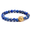 Lion Sediment Blue Bracelet