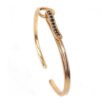 Gold Luxury Cuff Bangle Bracelet