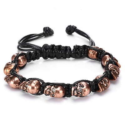 Skull Bracelet With Crystals