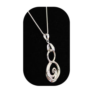 Mother's Pendant White Gold Gift for Mom, Engraved