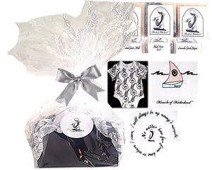 Package gift for new moms and mothers, stork bundle.