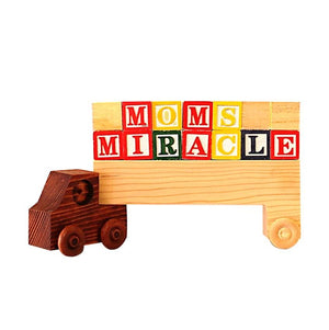 Wood Truck for letters, words, and Montessori learning for toddlers.