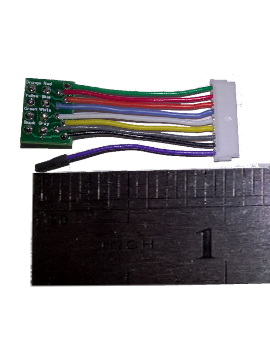 "WHN-10 1.0"" Standard Harness 9-pin JST to 8-pin NMRA"