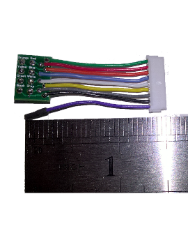 "WHN-15 1.5"" Standard Harness 9-pin JST to 8-pin NMRA"