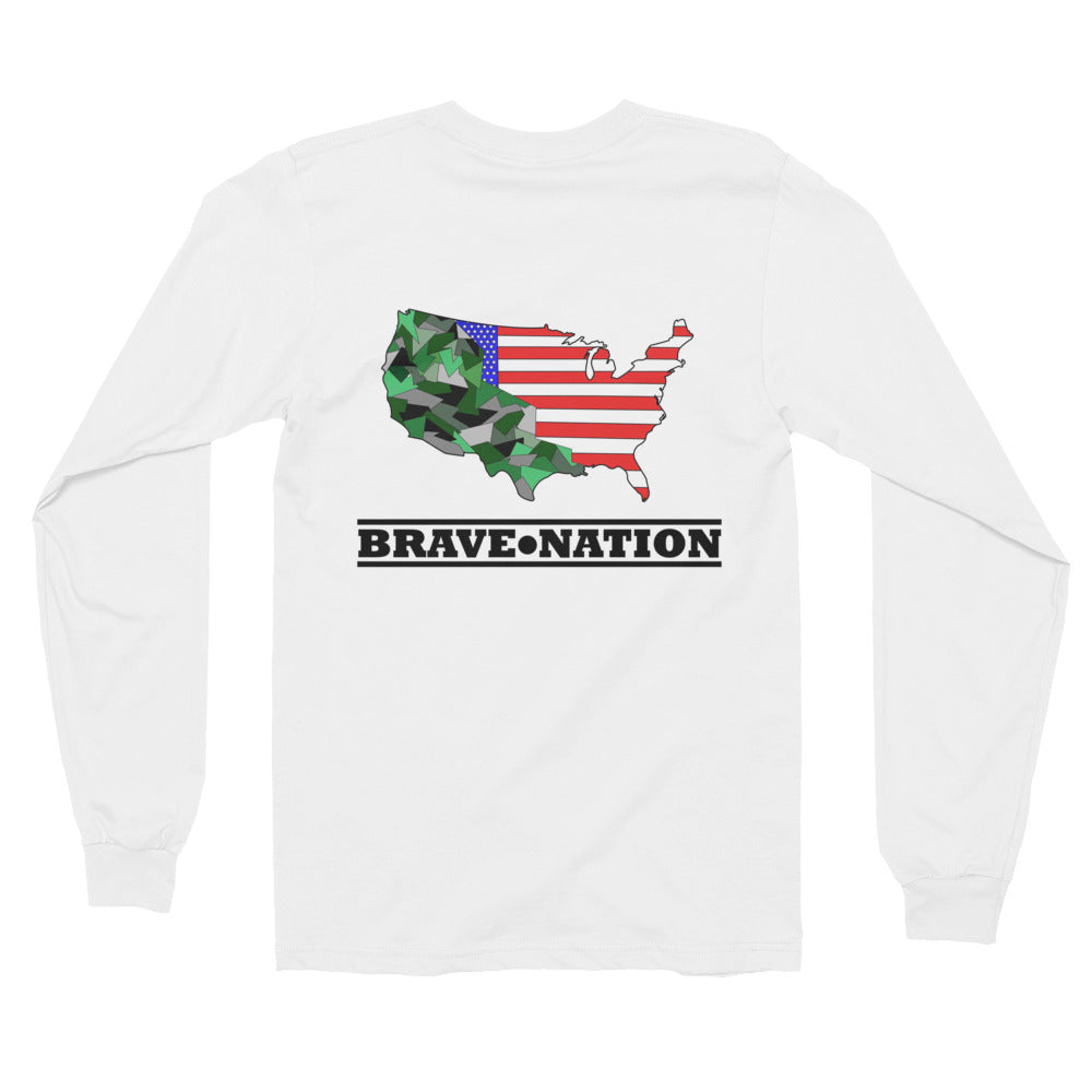 Premium Unisex Brave Nation Long Sleeve T