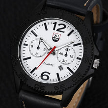 Military Leather Waterproof Watch