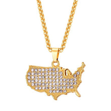 USA Map Necklace