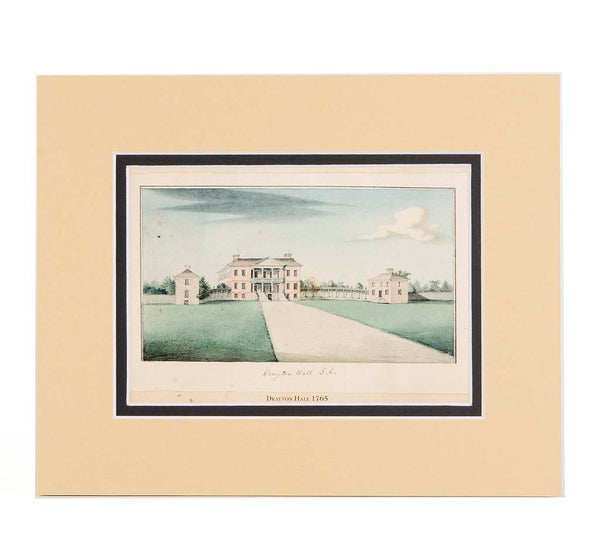 1765 Watercolor of Drayton Hall