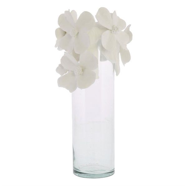 Glass Vase with Bone China Flower Crown