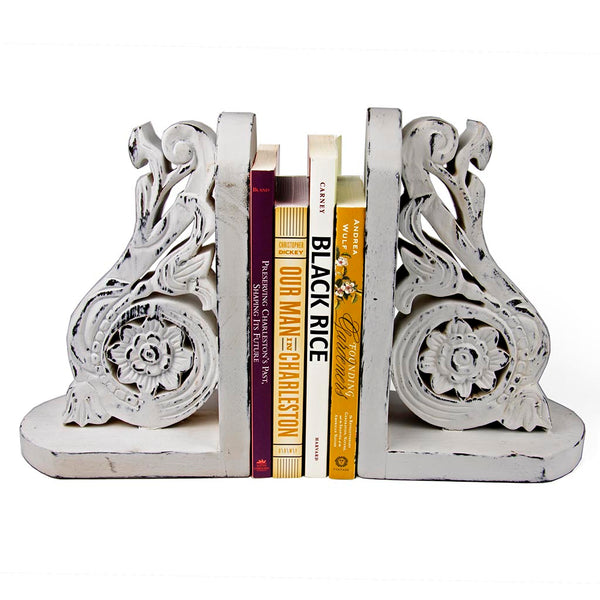 Wooden Bookend - White