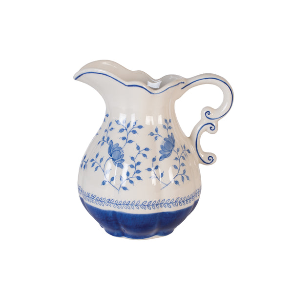 Blue in Bloom Pitcher