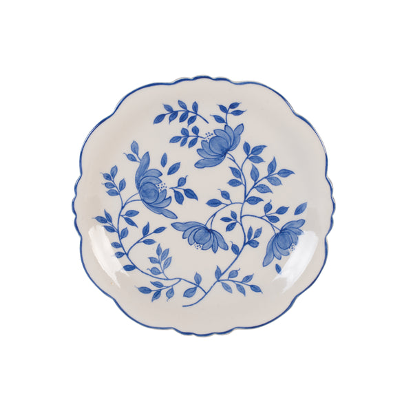 Blue in Bloom Scalloped Plate