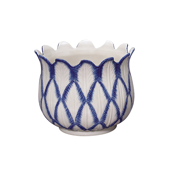 Blue in Bloom Tulip Planter