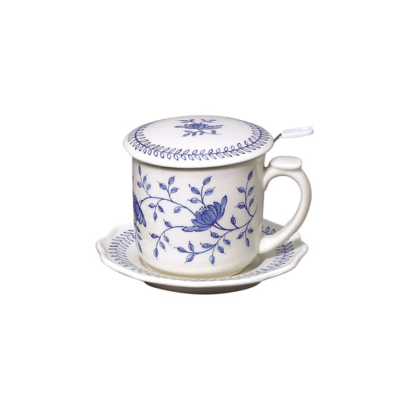Blue in Bloom Covered Mug