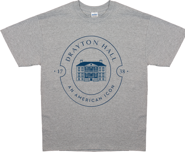 Drayton Hall Adult T-Shirt - Blue Logo
