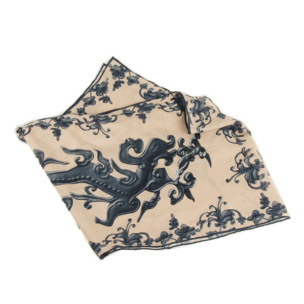 Dragon Teapot Silk Scarf