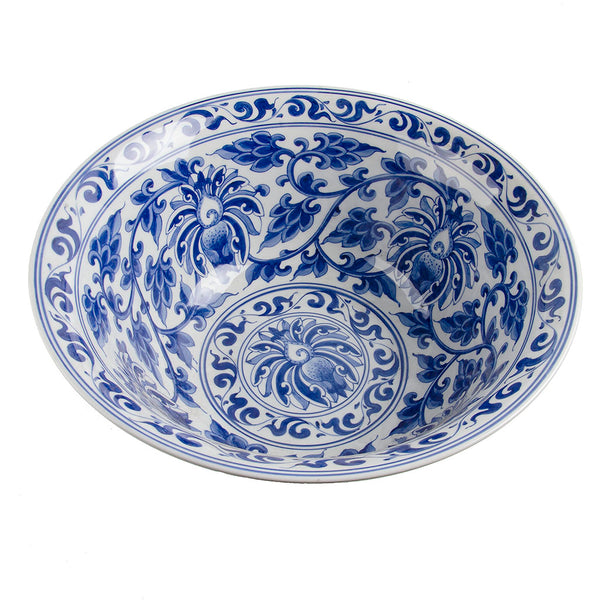 Blue & White Punch Bowl