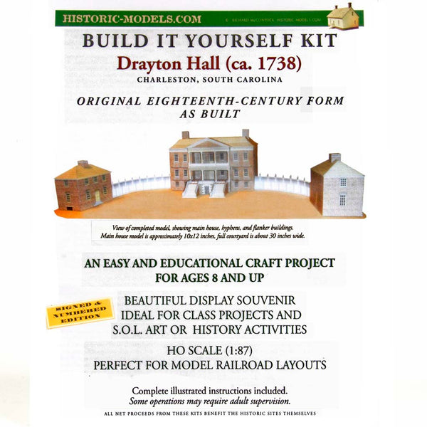 Build It Yourself Drayton Hall Model