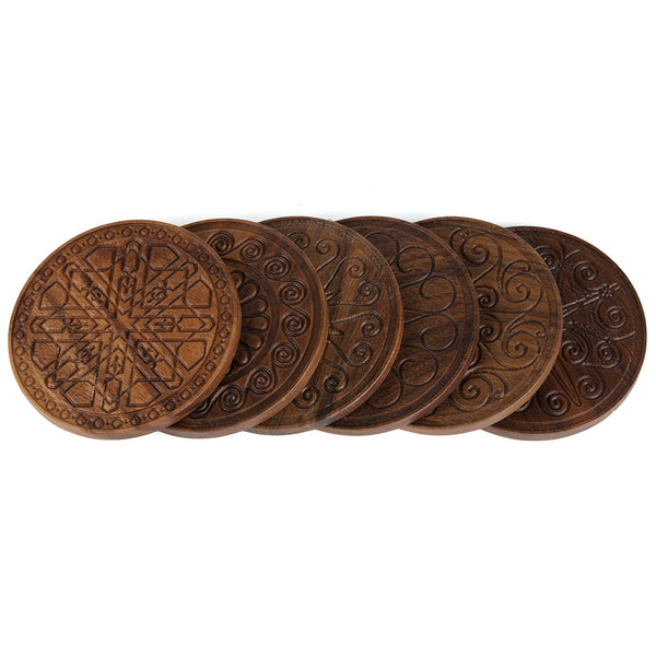 Charleston Gate Walnut Coasters